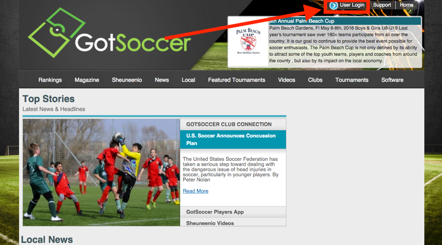 97ba849938cb To log into your GotSoccer Player and or Family Account you will first need  to click on the User Login section located on www.