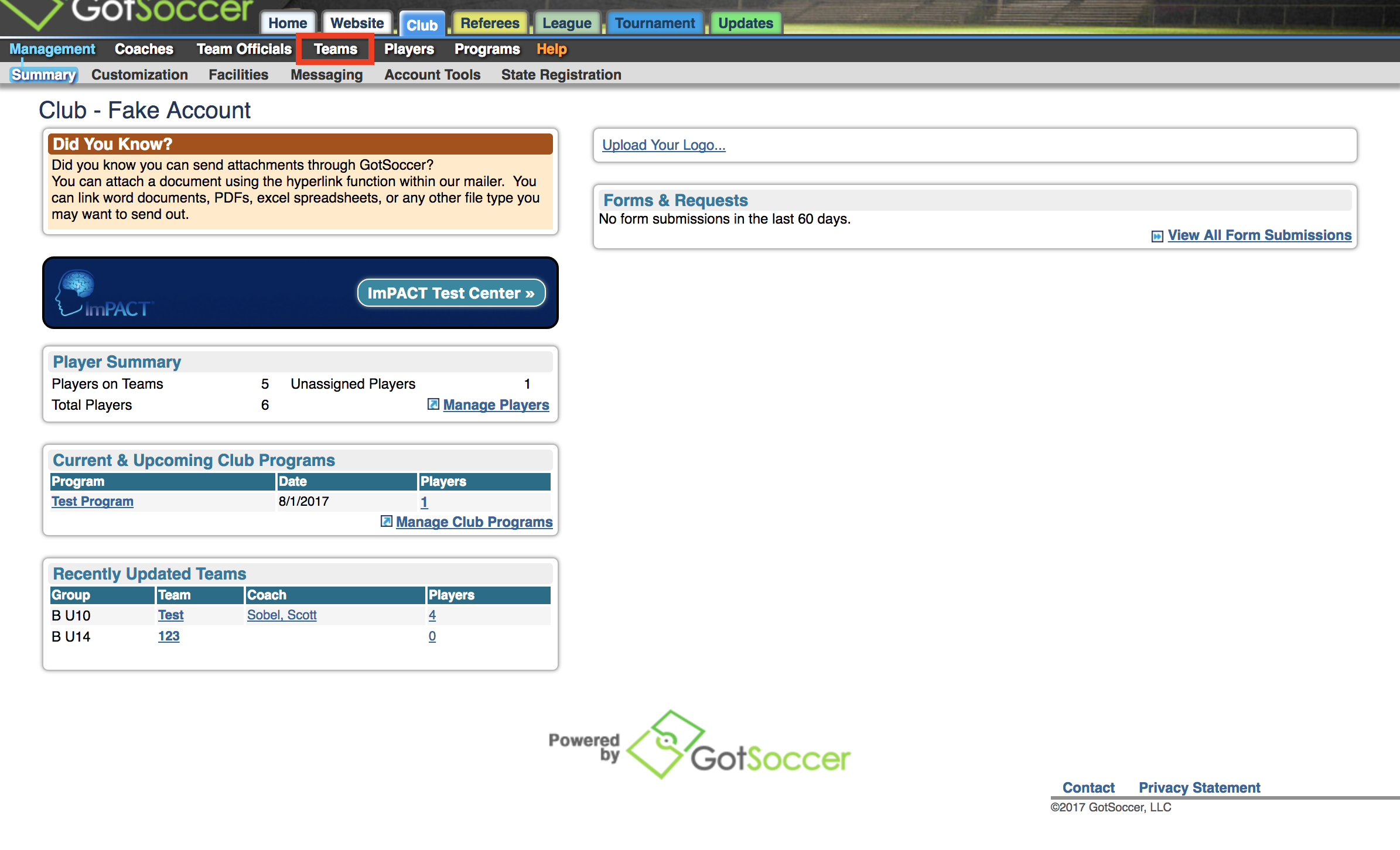 How Do I Add a New Team to My Club – GotSoccer